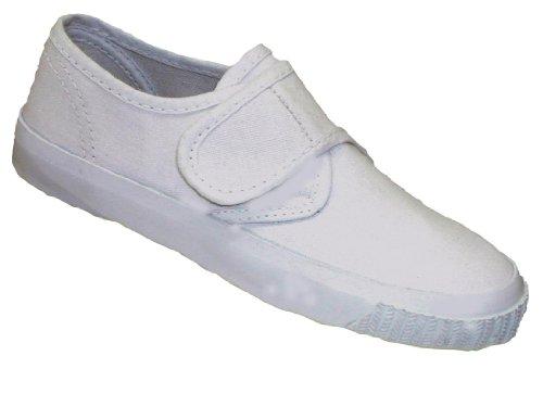Mirak Velcro Plimsolls Childrens White Size 9 6KYjzwL