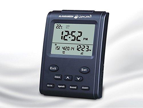 Athan Azan Clock Ramadan Gift Prayer Clock Anlising Automatic Azan Table Clock Digital Azan Clock (3011 Black) by Anlising