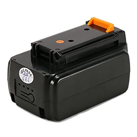 POWERAXIS LBX2040 40V 2.0Ah MAX Lithium Ion Battery Replacement for BLACK+DECKER LBXR36 Series Cordless Power (Cordless Right Angle Die Grinder)