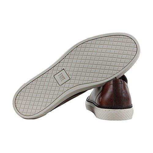 Frye Gates Bas Dentelle Marron Cuir Lace Up Sneakers Chaussures Marron