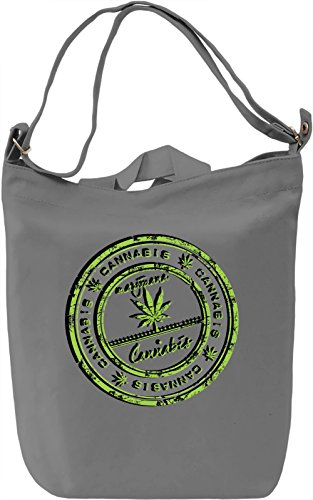 Cannabis Sign Borsa Giornaliera Canvas Canvas Day Bag| 100% Premium Cotton Canvas| DTG Printing|
