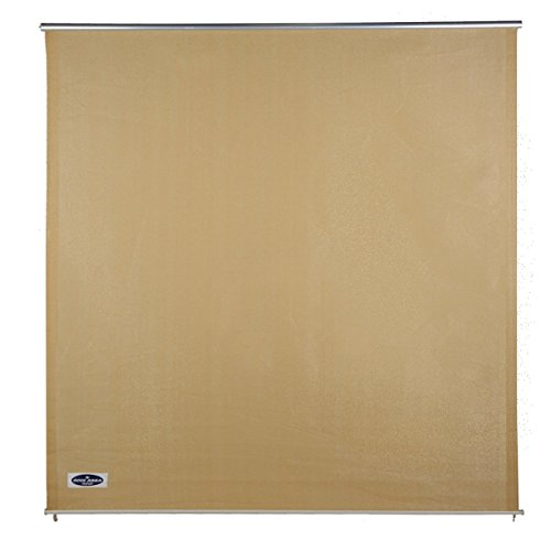 Cool Area 6ft x 6ft Outdoor Roller Sun Shade Blinds, Exterior Privacy Shade Panel for Patio Garden, Sand