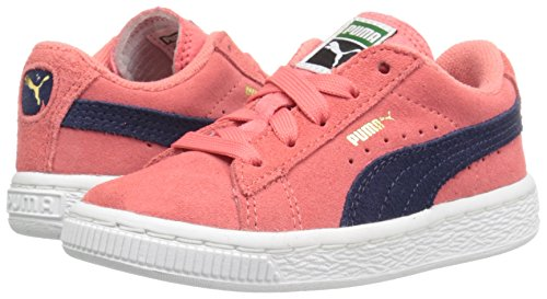 PUMA Girls' Suede Inf Sneaker, Porcelain Rose/Peacoat, 5 M US Toddler by PUMA (Image #6)