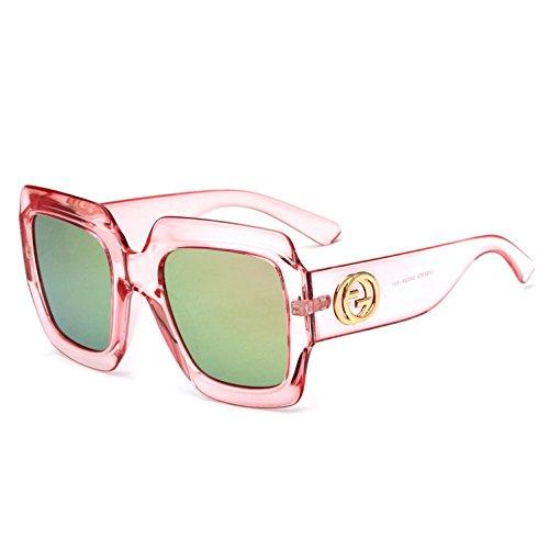 Estilo para con Mujer y Europeo Trend Europeo y Montura Grande y Gafas Sol Mirror Frog Hombre f Gafas b de de RDJM Sol tIw6qxOTvO