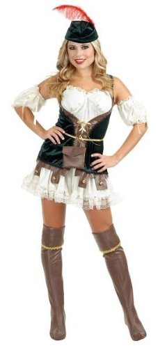 Female Robin Hood Costumes (Robin Hood Honey Adult Costume - X-Small)