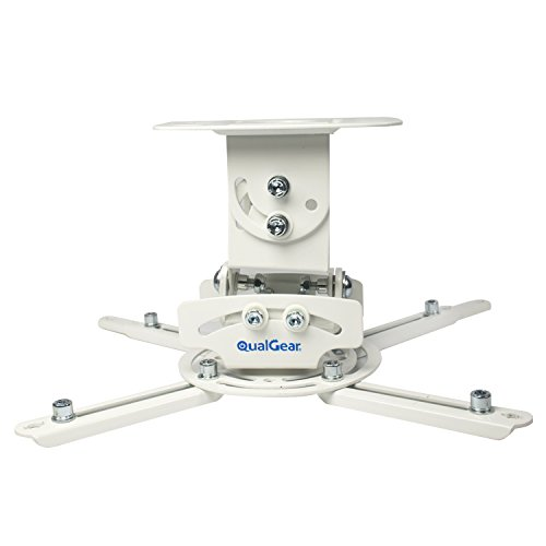 QualGear PRB-717-WHT Universal Ceiling Mount Projector - Ceiling Accessories Projector Mount