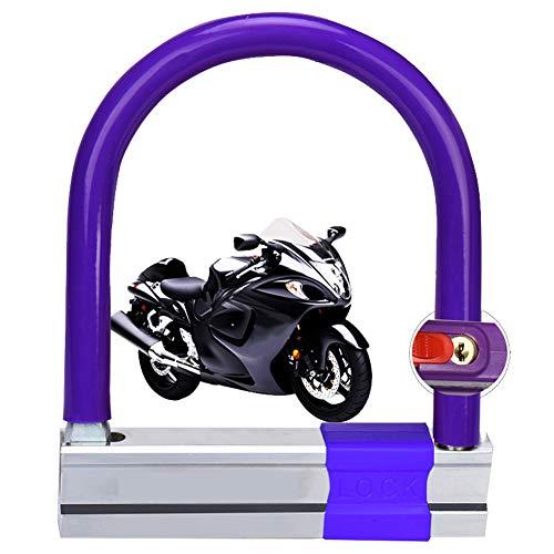 HAMHIN Arc Lock|U-Shaped Lock|Mountain Bike Lock|Bicycle Lock|Anti-Theft Lock|Includes 3 Keys|Multi-Function Lock|Purple|1450G