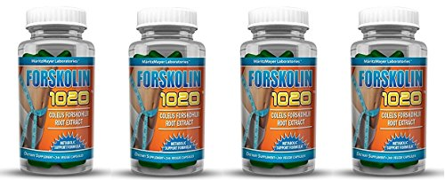 MaritzMayer Laboratories Forskolin 1020 Metabolic Support Weight Loss Formula 20% 250mg 30 Capsules (4 Bottles)