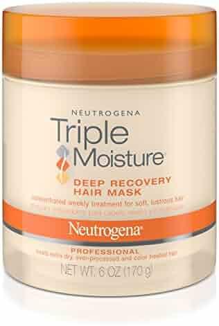 Neutrogena Triple Moisture Deep Recovery Hair Mask Moisturizer For Dry Hair, 6 Oz.