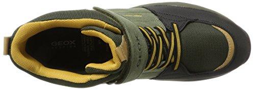 Geox J Orizont ABX B, Stivali da Neve Unisex-Adulto Verde (Military/Dk Yellow)