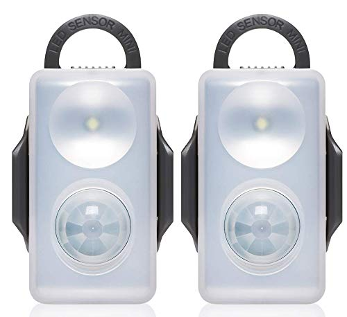 Motion Sensor Light Battery Operated, Indoor & Outdoor Bright Led Motion Detector Night Light, Power Failure Wireless Safety Lighting for Kids Room, Bedroom, Bathroom, Closet and Camping 2-Pack