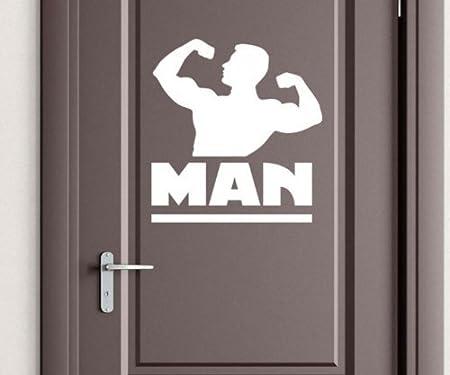 Door decal man men toilet men wc toilet door deco sticker adhesive