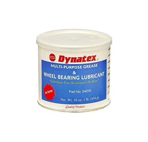 Dynatex 54016 Lithium Complex Hi Temp Wheel Bearing Grease  16 Oz Tub  Amber