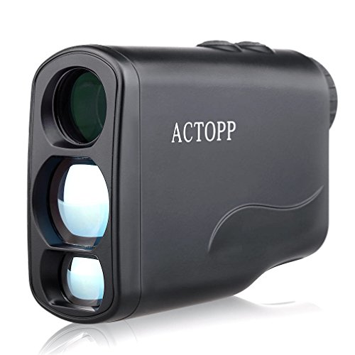 ACTOPP 600/550 Yards Golf Rangefinder with Scaning Speed Golf Scanning Jolt Golf Slope Correction Angle Height Horizontal Distance Measurement Function Perfect for Golf Hunting and Racing(Black)
