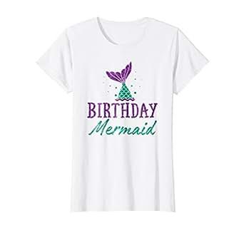 Amazon Womens Birthday Mermaid Girls T Shirt