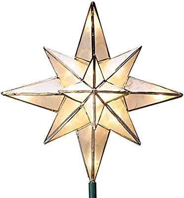 "L 10"" Christmas Tree Star Topper (71401LO)"