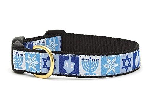 Hanukkah Dog Collar - Up Country Hanukkah Holiday Dog Collar 5/8