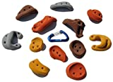 10 Pack Incut Screw-Ons | Climbing Holds | Mixed Earth Tones