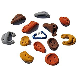 10 Pack Incut Screw Ons | Climbing Holds | Mixed Earth Tones