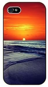 iPhone 6 Sunset at sea, ocean - black plastic case / Nature, Animals, Places Series