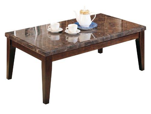 ACME 07142 Danville Marble Top Coffee Table, Black