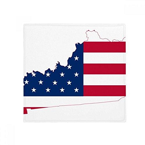 DIYthinker Kentucky USA Map Stars Stripes Flag Shape Anti-Slip Floor Pet Mat Square Home Kitchen Door 80cm Gift