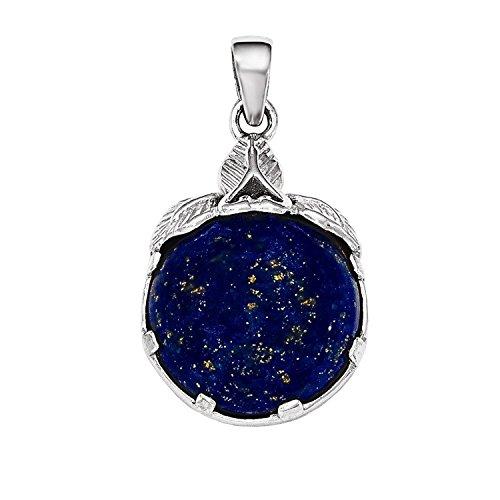 (Sterling Silver Rhodium Plated Lapis Lazuli Length 29mm)
