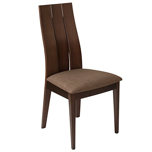 Flash Furniture ES-CB-3902YBH-E-GH-GG Espresso Wood Dining Chairs, 1 Pack