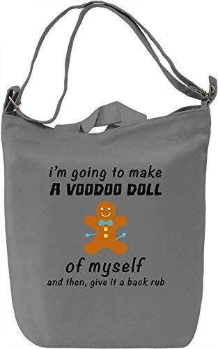 Voodoo doll of myself Borsa Giornaliera Canvas Canvas Day Bag| 100% Premium Cotton Canvas| DTG Printing|