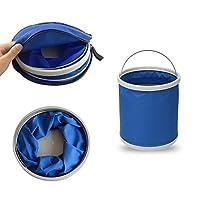 odowalker plegable cubo 9L 2,4 gallon portátil plegable bolsa de agua para Camping senderismo