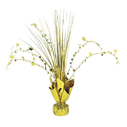 Amscan 12-inch Foil Spray Centrepiece Party Accessory, Gold Amscan International 110002.19