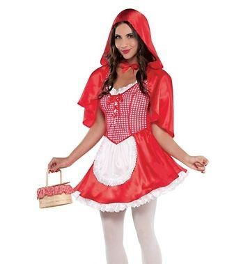 Brother And Sister Halloween Matching Costumes (Amscan Women's Red Riding Hood Halloween Costume Medium (6-8))