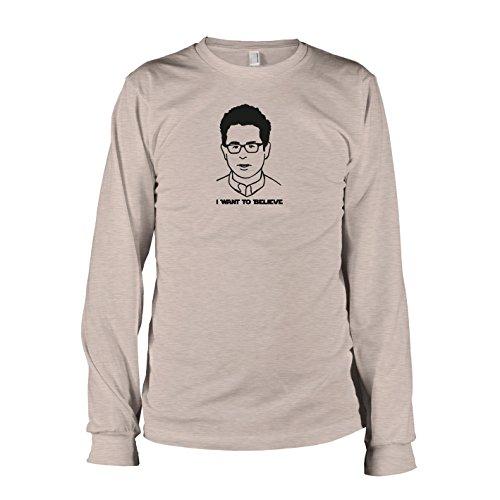 TEXLAB - Abrams: I want to Believe - Langarm T-Shirt, Herren, Größe M, graumeliert
