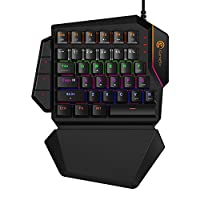 GameSir GK100 One-handed Mechanical Gaming Keypad, USB Wire Game Keyboard FPS Mini 34Programmable Keys with RGB Backlit LED Gaming Keyboard