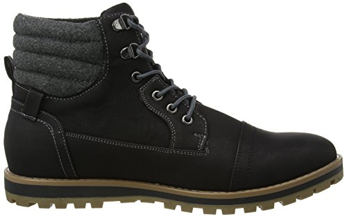 New Look Worker, Botines para Hombre Black (black/01)