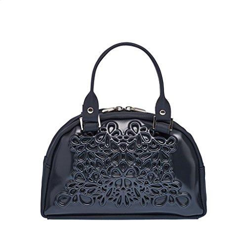 MeDusa Vegan Leather Handmade Lily Crossbody Bag (Black/Black) by MeDusa