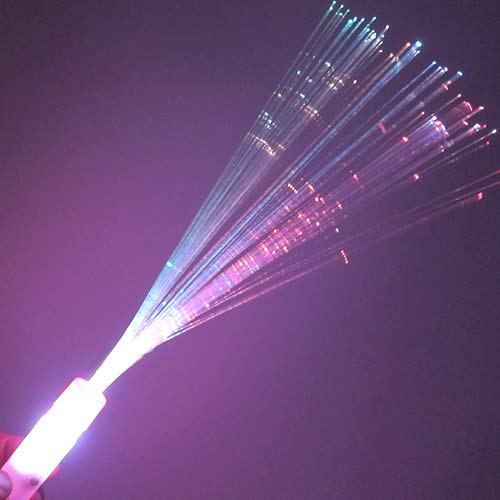 Glow Products Fiber Optic Wands (Box of 48) - Fiber Optic Wand with 6 Color Modes (Multi-Color) -