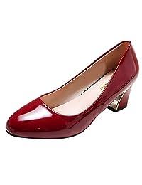 Jesper Basic Patent Leather Ballet Pumps Flats Fashion Women Comfortable Office Ladies Casual Walking Shoes