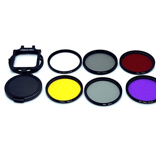 DAVITU 58mm UV CPL ND Filter Kit for Gopro Hero 5 Black Waterproof Housing Case