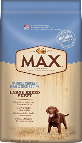 Nutro MAX Large Breed Puppy Natural Chicken Meal and Rice 30 lbs. by Nutro