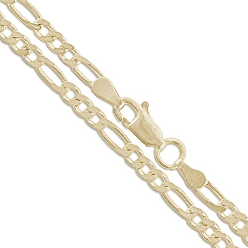Real 10k/14k Yellow Gold CHOOSE YOUR WIDTH Figaro Link Chain Necklace