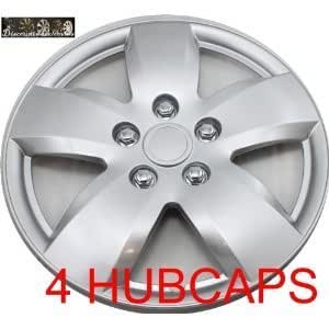 Set of Four Replica 16 inch Nissan Altima Silver Hubcaps - Wheel Covers