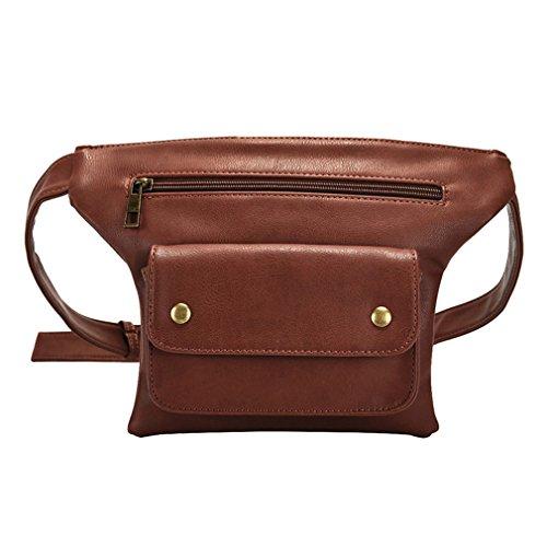 JNHVMC Waist Bags Pu Leather Women Pack Bag Handbag With Pearl Waist Belt