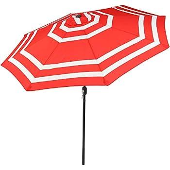 Amazon Com Sunnydaze 9 Foot Outdoor Patio Umbrella With