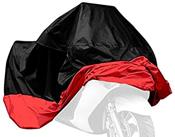 Lanxi Funda cubierta protector Impermeable amplia y resistente para Moto Motocicleta negro