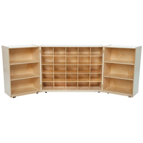 Wood Designs 25509 25 Tray Tri-Fold Storage Without Trays