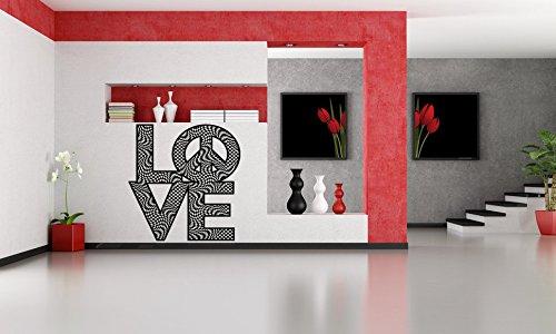 (Wall Vinyl Sticker Decals Mural Room Design Pattern Art Decor Peace Love Sign Chess Ornament Modern mi504)