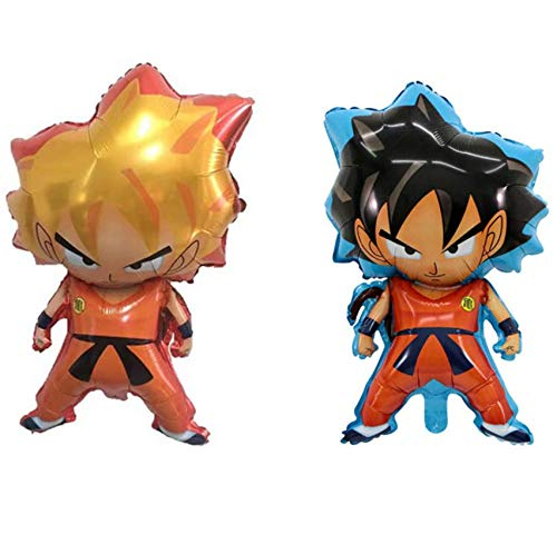 Astra Gourmet Dragon Ball Z Balloons - 2 Pack DBZ Super Saiyan Goku Gohan Character Foil Balloon Party Decorations]()