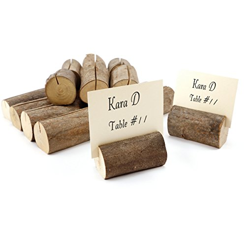 Rustic Wood Tree Slices Name Menu Picture Place Card Holders Wedding Decor Log (Place Holder Tree Card)