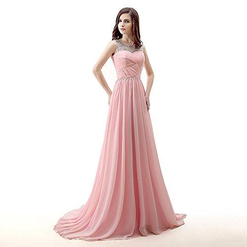 Luce Scavano Strass Donne Da Besswedding Blu Eleganti Piega Abiti Festa Lunga Serata qU4EOFwOn